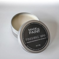 image of madebypaint's finishing wax used with chalk furniture paint